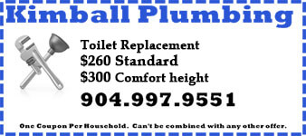 Coupon for toilet repair, $260 and $300 for Comfort Height